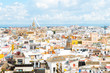 panoramic views of Seville old town, Spain