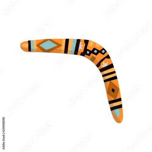 Photo Australian boomerang in flat style isolated on white background