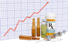 Medicines With Growing Chart, 3D Rendering