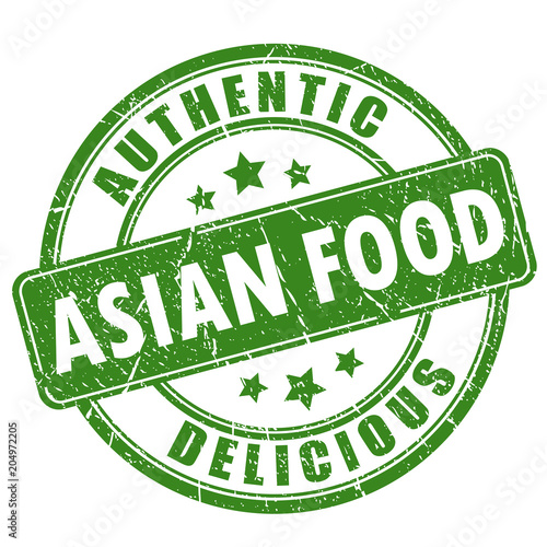 Fototapeta Authentic asian food vector stamp obraz na płótnie