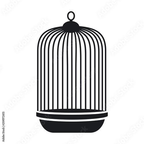 Fotografie, Obraz  Vector illustration of a cage for a parrot
