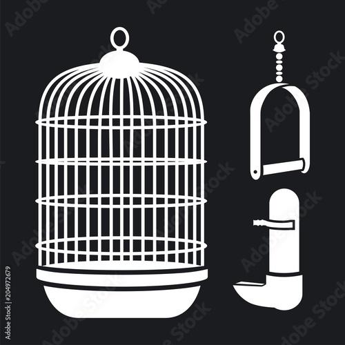 Fotografie, Obraz  Vector illustration of goods for a parrot