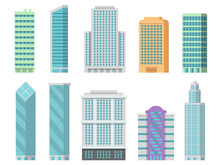 Vector Office Buildings Isolat...