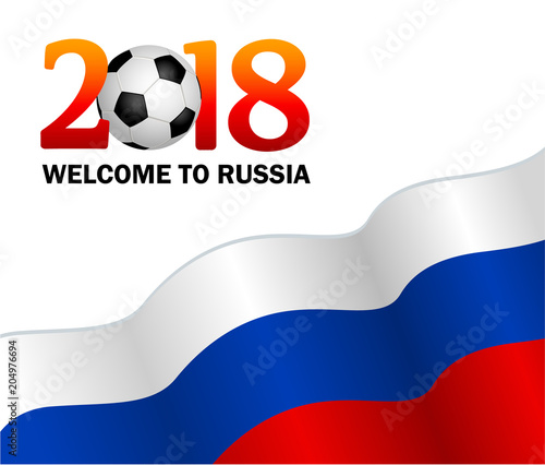 Welcome To Russia 2018 Vector Illustration On White Background