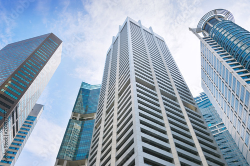 Singapore business office buildings architecture
