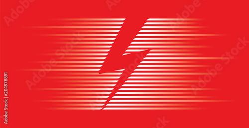 Fotografie, Obraz  very fast lightning symbol vector
