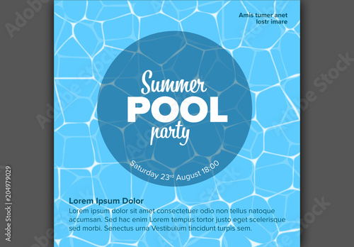 Pool Party Invitation Card Layout Buy This Stock Template