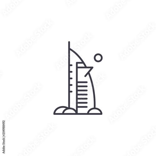 Burj Al Arab hotel linear icon concept фототапет