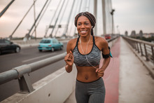 Fit African American Woman Run...