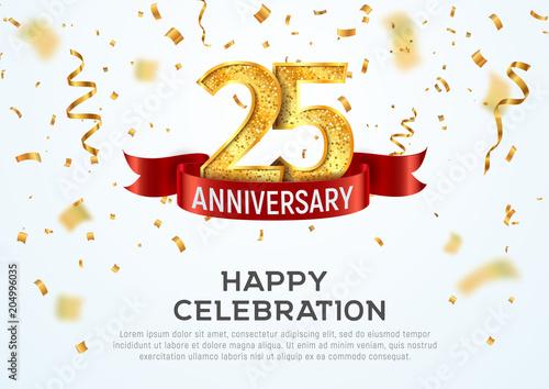 Fotografía  25 years anniversary vector banner template