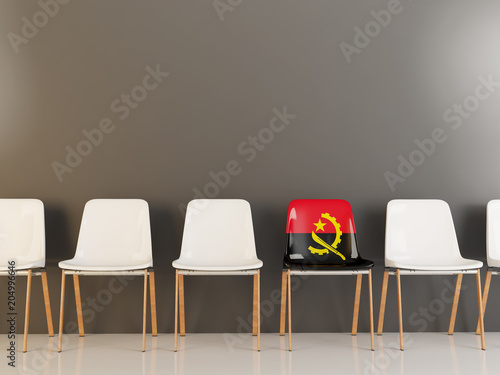 Photo Chair with flag of angola
