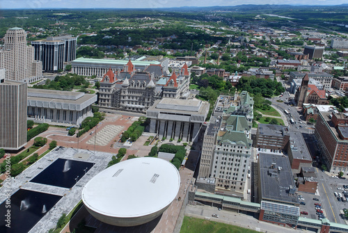 Empire State Plaza, New York State capitol complex in Albany Canvas Print