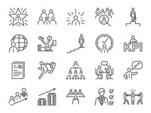 Career Path Icon Set. Included...
