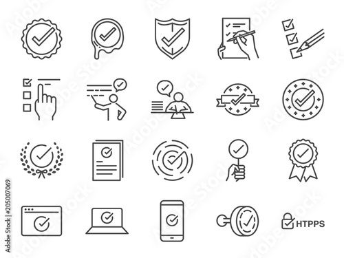 Fotografía  Check mark icon set
