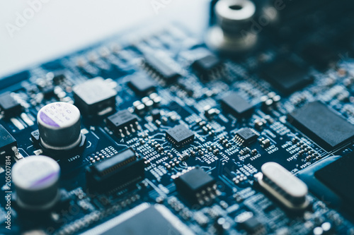 Fotografiet  Computer board hardware motherboard microelectronics Server CPU chip semiconduct