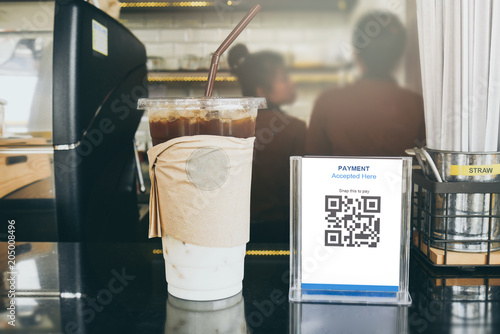 Valokuva  Qr code payment, E wallet , cashless technology concept