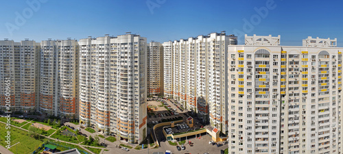 Fotografie, Obraz  Typical multi-storey houses in Khimki, Russia