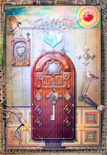In de dag Imagination Entrance door for the world of fairy tales