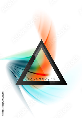 Keuken foto achterwand Vlinders in Grunge Swirl fluid flowing colors motion effect, holographic abstract background
