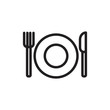lunch, lunch dishes outline vector icon. Modern simple isolated sign. Pixel perfect vector illustration for logo, website, mobile app and other designs