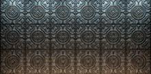Vintage Decorative Pattern. 3D...