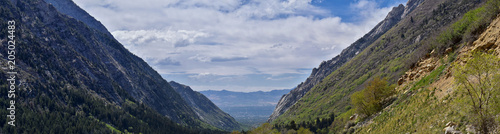 Obraz na plátne Panoramic Views of Wasatch Front Rocky Mountains from Little Cottonwood Canyon l