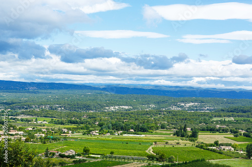 Foto op Canvas Historisch geb. View on Provence village roof and landscape.