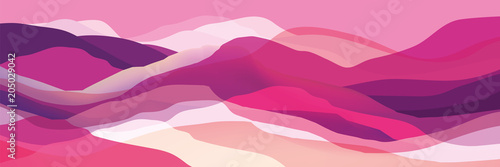 Poster Abstract wave Color mountains, waves, abstract shapes, modern background, vector design Illustration for you project