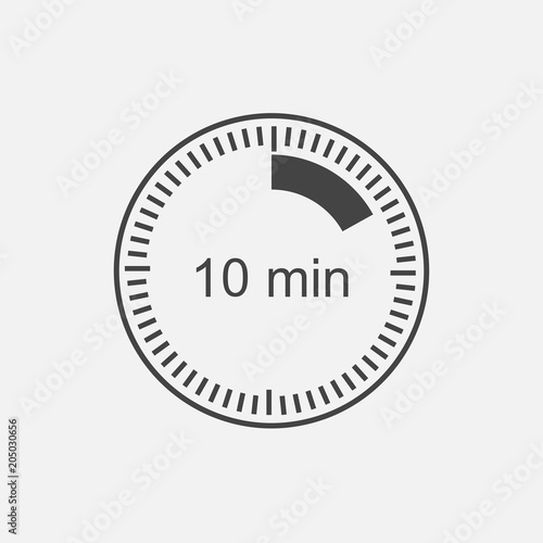 a clock icon indicating the time span of 10 minutes the time span is ten