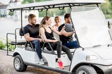 Friends In The Golf Cart