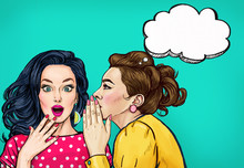 Pop Art Women Gossip With Thou...