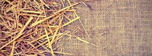 Background Of  Jute Fabric And...