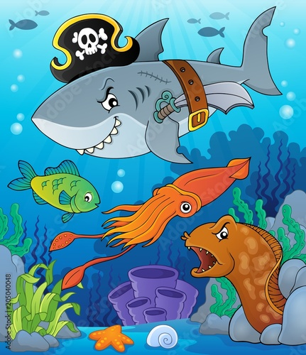 Papiers peints Enfants Pirate shark topic image 7