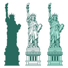 Set Of The Statue Of Liberty I...