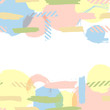 Background with doodle circles randomly distributed, vector