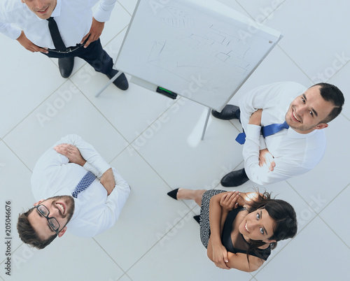 Fotobehang Stof view from the top. background image of successful business team