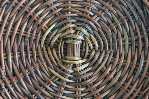 Photo Texture of rattan basket background