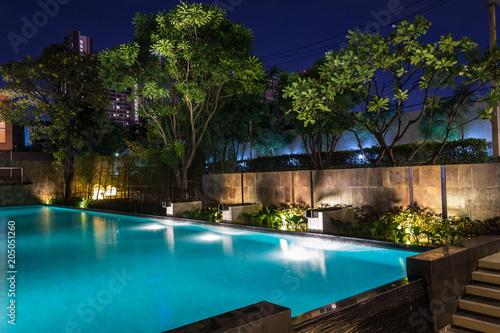 Lighting business for luxury backyard swimming pool Wallpaper Mural