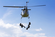 Special Forces In Helicopter W...