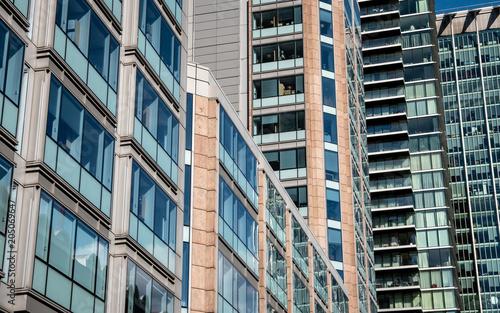 Poster Stad gebouw City skyscrapers