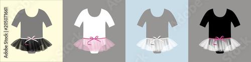 Fototapeta Clothing set.Newborn clothes. Baby shower invitation card.