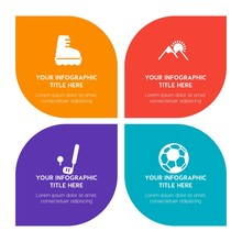 Flat Science, Sports, Nature Infographic Timeline Template With Floral Shape For Presentations, Advertising, Annual Reports