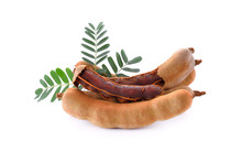 Sweet Tamarind Isolated On Whi...