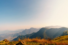 Scenery On The Mountain At Sun...