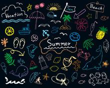夏 手描きイラスト
