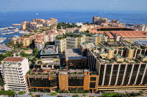 City on the water View of Fontvieille in Monaco