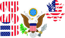 Great Seal Of The United States Of America, The Flag Of America, The Day Of Independence