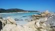 Clear water in Spiaggia del Principe shore, Costa Smeralda. Sardinia, Italy