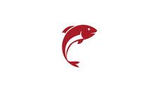 Fish Logo Vector, Jumping Fish...