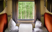 First Class Train Compartment Interior For Two